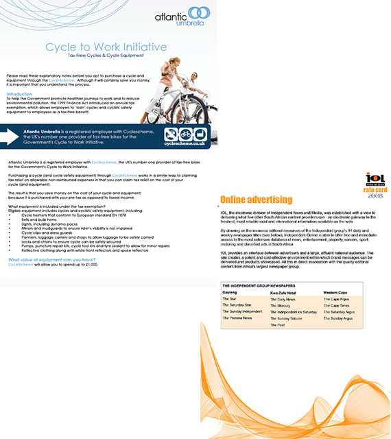 brochure cape town web design