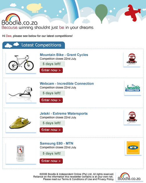html emails cape town web design