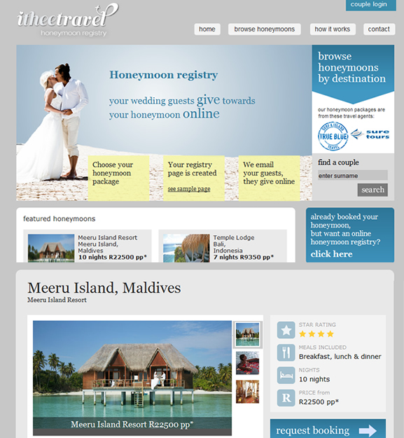 itheetravel website design